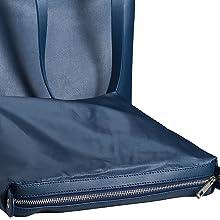 Innentasche Damen Shopper Handtasche blau
