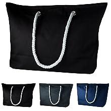 strandtasche beach bag frauen damen shopper tasche blau grau schwarz