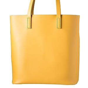 Damen Shopper Handtasche gelb