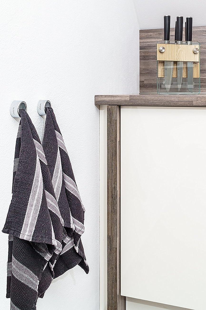 2 x Handtuchhalter Handtuch Haken Handtuchhaken Set Geschirrtuch Halter Kleben
