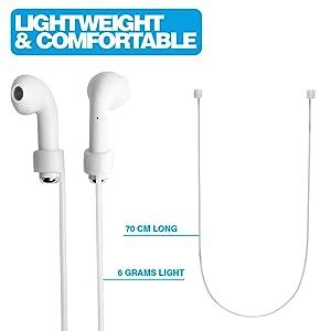 Die MC24 Funem Halsschlaufen für Apple AirPods Kopfhörer Leicht und komfortabel zu Tragen