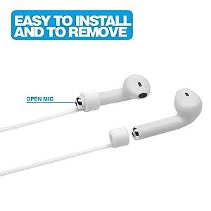 MC24 Funem Halsschlaufe für Apple Airpods Kopfhörer einfach anzubringen und wieder zu entfernen