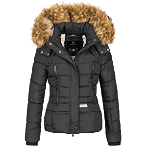 Navahoo warme Damen Winter Jacke Stepp Winterjacke Kurzjacke gefüttert B611