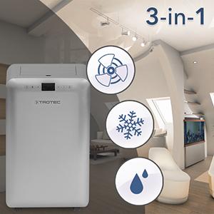 Trotec lokales mobiles klimager t klimaanlage pac 3550 pro for Klimaanlage transportabel