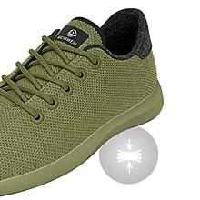 Scarpe da corsa da uomo in lana merino Merino Wool Knit Scarpe da corsa per jogging outdoor sportive