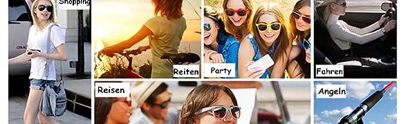 Aroncent Unisex Retro Sonnenbrille Metallrahmen Fliegerbrille Polarisierte Sonnenbrille Verspiegelt Pilotenbrille UV400 Schutzbrille f/ür Damen und Herren 6 Farben