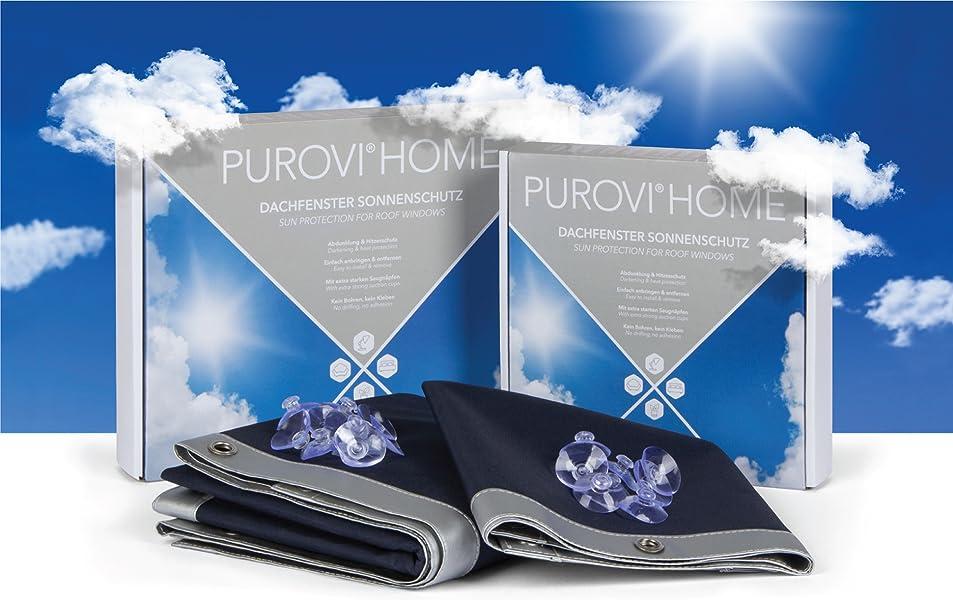 purovi thermo sonnenschutz f r dachfenster hitzeschutz f r innen ohne bohren ohne. Black Bedroom Furniture Sets. Home Design Ideas