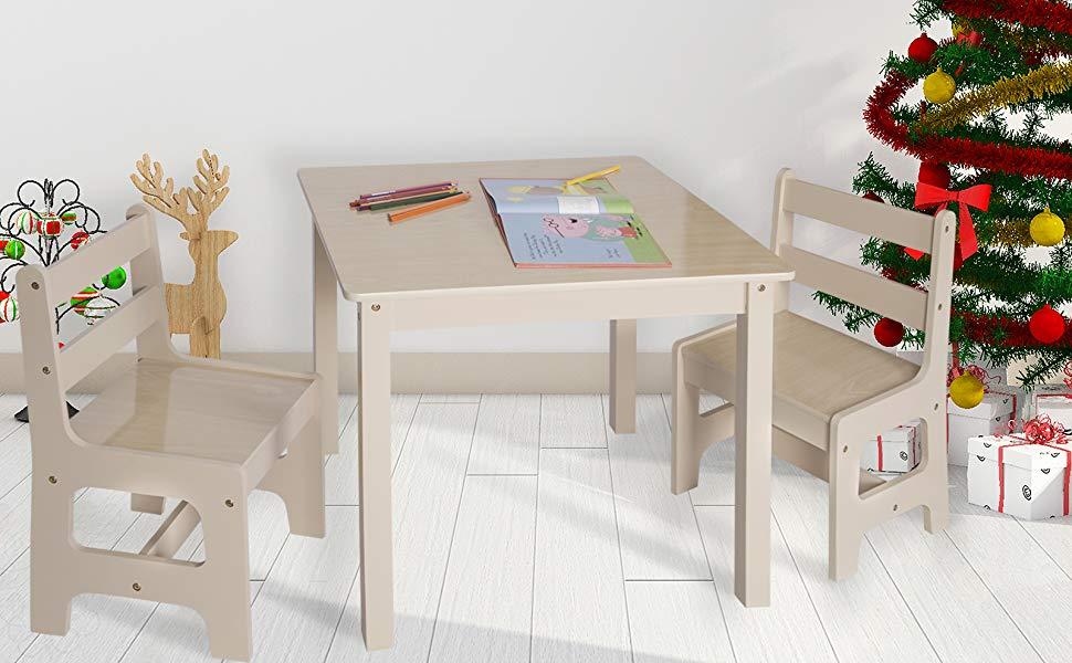 Scrivania Per Bambini 2 Anni : Woltu sg tavolo e sedie per bambini gioco tavolino con