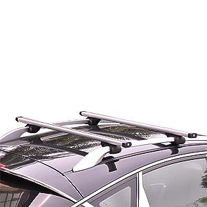 Woltu Fahrradträger Dachträger Dachgepäckablage Alu Relingträger Bike Fz1123 Auto