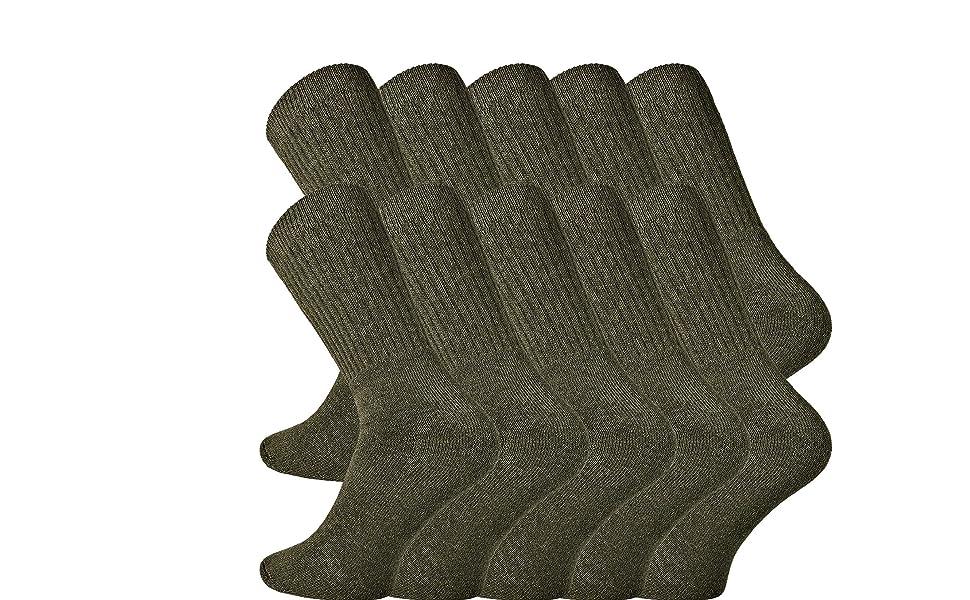 sehr robuste schwere Qualität 10 Paar Sport-Army-Jäger-Socken-Qutdoor-schöne