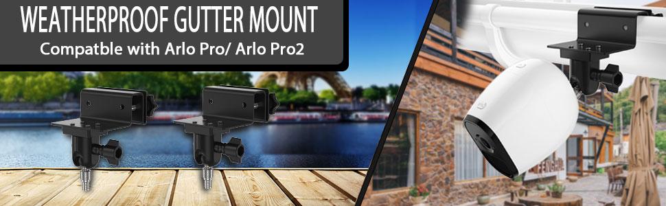 Arlo HD//Arlo GO//Arlo Ultra Kamera Wandhalterung Pro2 Pro2 Dach Dachrinnen Halterung /Überwachungskamera wetterfest LUXACURY Arlo Pro Dachrinnenhalterung Outdoor Halterung f/ür f/ür Arlo Pro