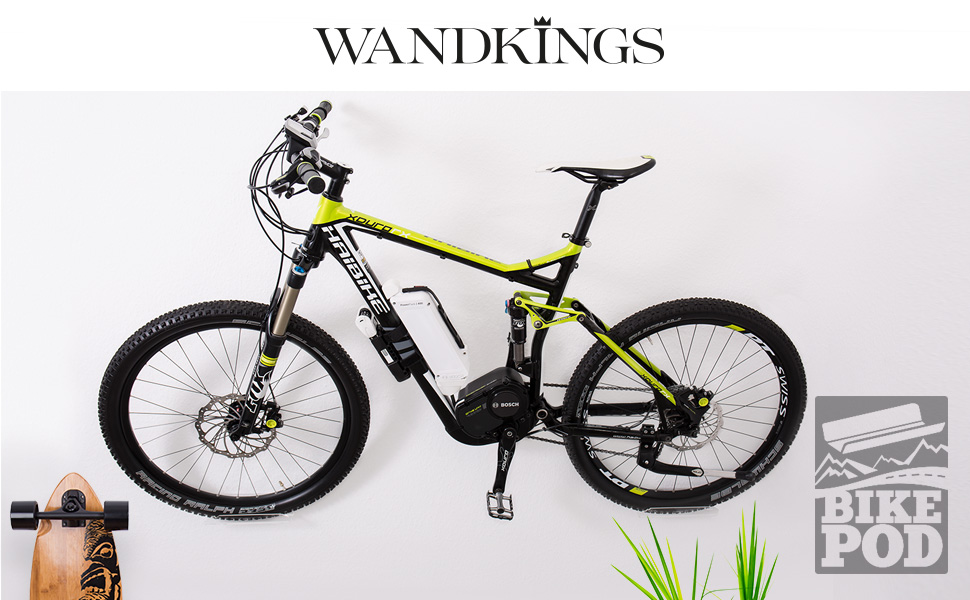 wandkings bikepod version 1 1 wandhalter f r 1 fahrrad rennrad mountainbike fahrrad. Black Bedroom Furniture Sets. Home Design Ideas