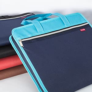 Datei Ordner Dokumententasche Handtasche Dokumentenmappe A4 12 F/ächer Blau EINWEG TIANSE F/ächermappe A4 erweiterbar Ordnungsmappe A4 Tragbar Sortiermappe A4 Akkordeon A4 Aktentasche