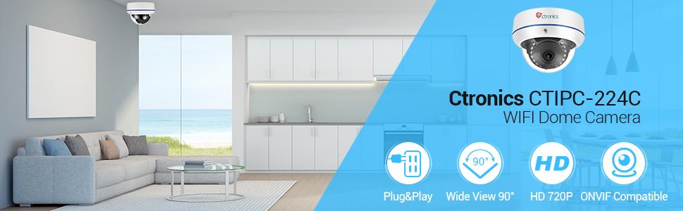 720p ctronics berwachungskameras dome kamera ip wifi wireless kamera 720p 20m ir. Black Bedroom Furniture Sets. Home Design Ideas