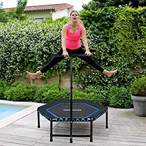 NATURALIFE Mini Fitness-Trampolin mit Griff, Fitness
