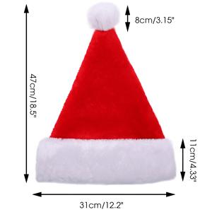 Unisex-Erwachsener Roter Weihnachtsm/ütze Deluxe Velvet Weihnachtsdekoration Geschenke Kost/üm f/ür Xmas Party Halloween CIT/ÉTOILE Weihnachtsm/ütze
