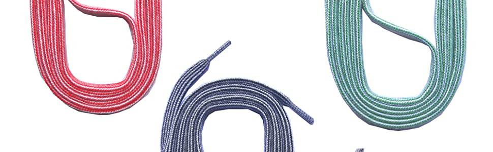 5mm breit 5 Farben ca 130cm SNORS Schnürsenkel Flachsenkel STREIFEN