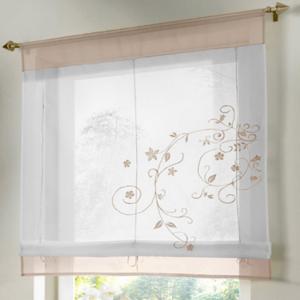 i@HOME Voile Raffrollo 60 x 155 cm Raffgardinen mit Schlaufen Fenstervorhang Scheibengardinen f/ür Fenster Wei/ß, 60 x 155 cm