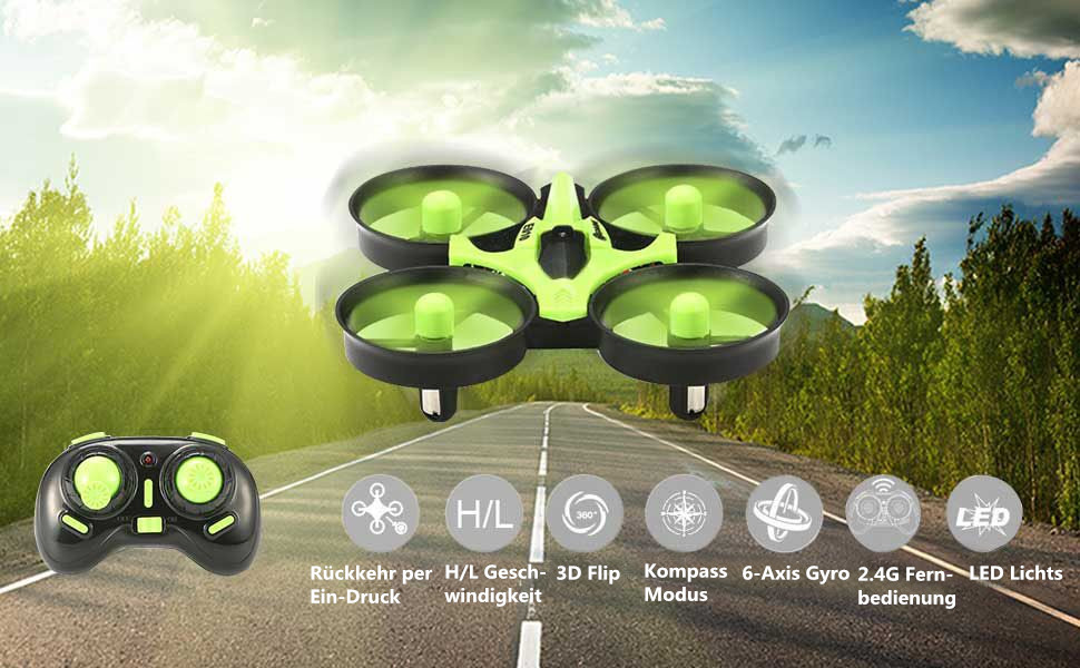 mini quadrocopter drohne eachine e010 mini quadcopter. Black Bedroom Furniture Sets. Home Design Ideas