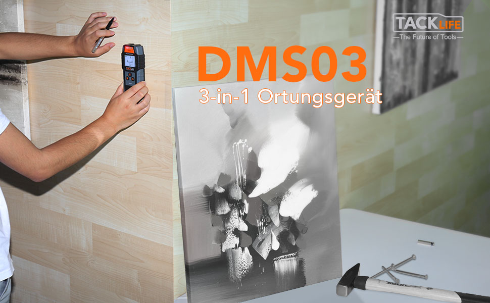 Ortungsgerät tacklife dms multifunktions digitale wand scanner