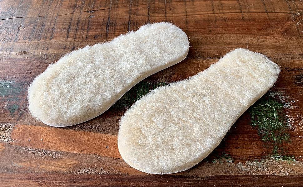 biped 2 Paar extra dicke Lammwoll Einlegesohlen Filz Unterseite für Kinder z2690