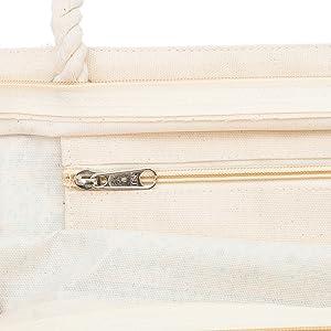 strandtasche mit reißverschluss