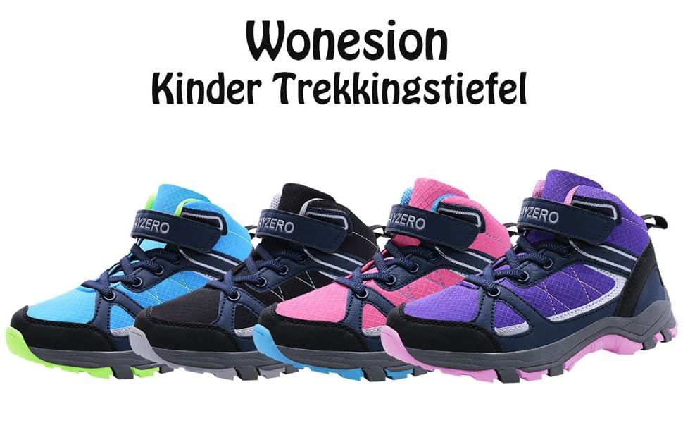 Wonesion Kinder Trekkingschuhe Bergschuhe Outdoor Wanderschuhe Wanderstiefel f/ür Jungen M/ädchen