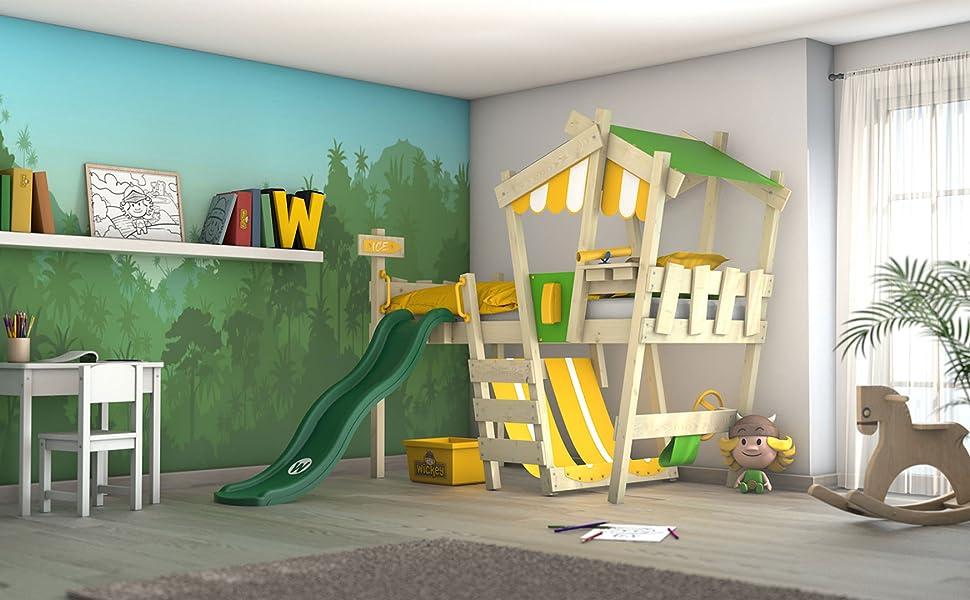 Etagenbett Mit Rutsche Wickey Crazy Circus : Wickey kinderbett crazy hutty mit rutsche hochbett in