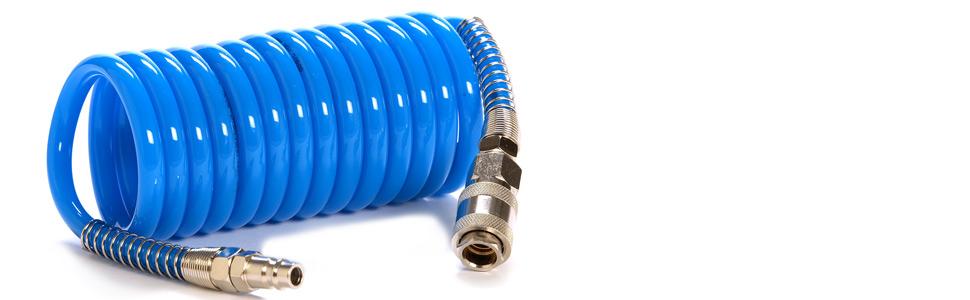Druckluftschlauch:D6.5x10mm 7.62 Meter Glattschlauch Schlauch max.20bar IMPLOTEX Druckluftschlauch Spiralschlauch Glattschlauch L/änge 3Meter und 7,62 Meter