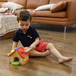betonmischer LKW Formsortierspiel ab 1 Jahr TOP BRIGHT Betonmischer Spielzeug Holz f/ür Kinder Kinder Geschenke zum Geburtstag Weihnachten