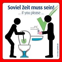 Klobürste nutzen, Hände waschen