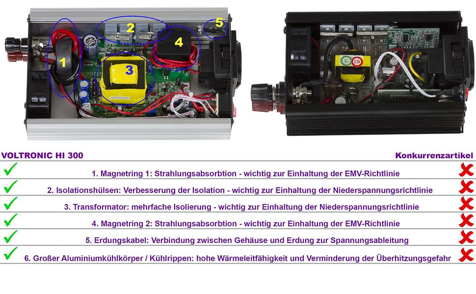 Voltronic Modifizierter Sinus Spannungswandler 600w Elektronik