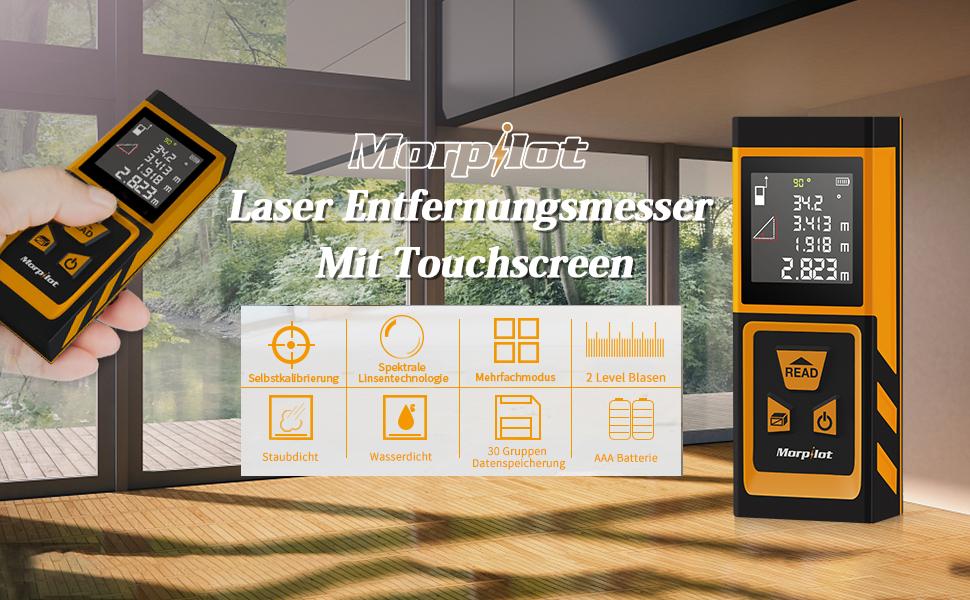 Laser entfernungsmesser mit touchscreen funktion morpilot m