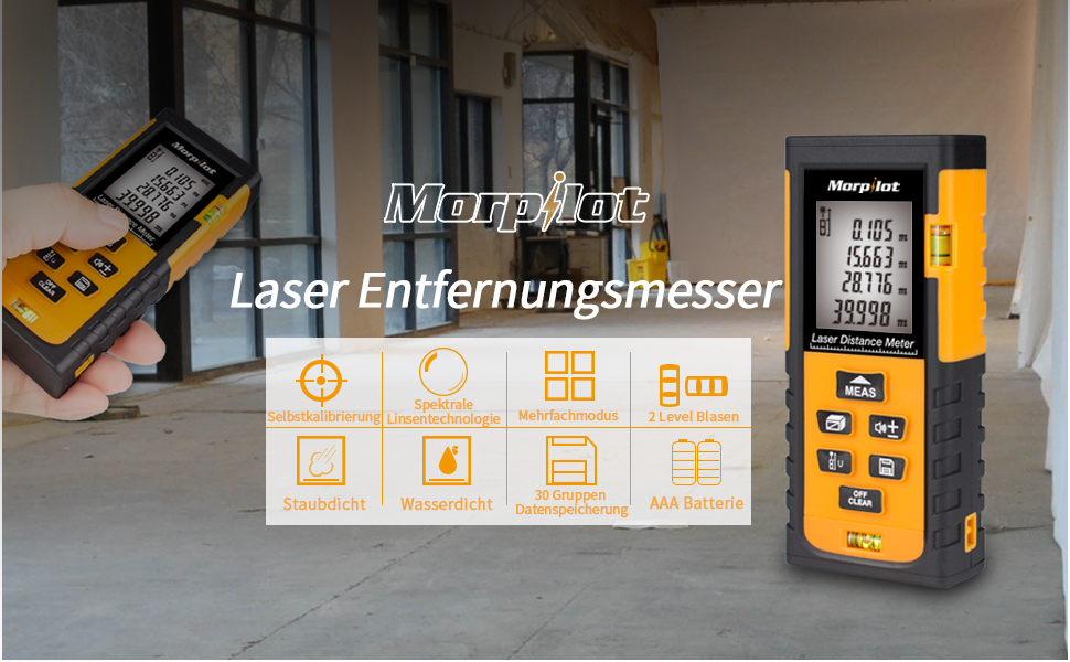 Urceri Laser Entfernungsmesser : Laser entfernungsmesser morpilot 0 05~40m ±1.5mm lasermessgerät mit