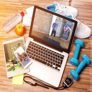 interaktiv workout affisch och videokurser