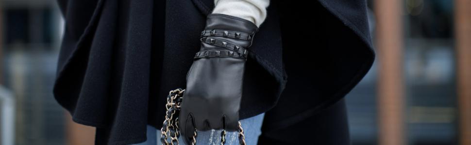 683eb1ab62bbd7 napo gloves napoROCK - modische Touchscreen Lederhandschuhe mit ...