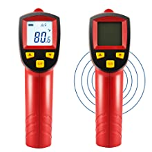 Astroai Digital Laser Infrared Thermometer Non Contact Temperature Meter Ir Pyrometer Lcd Lighting Temperature Meter 50 C To 380 C Red And Black Auto