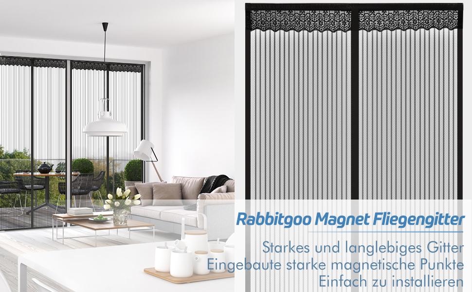 Black A 70x225cm GOUDU Fliegengitter T/ür Magnetisch Magnetvorhang T/ür Insektenschutz Automatisches Schlie/ßEn f/ür Balkont/ür Wohnzimmer Terrassent/ür