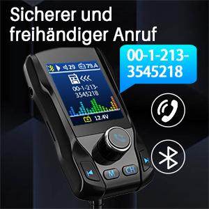"""OMORC FM Transmitter, Bluetooth , fm transmitter auto bluetooth mit 1.8 """"großer TFT-Farbbildschirm"""