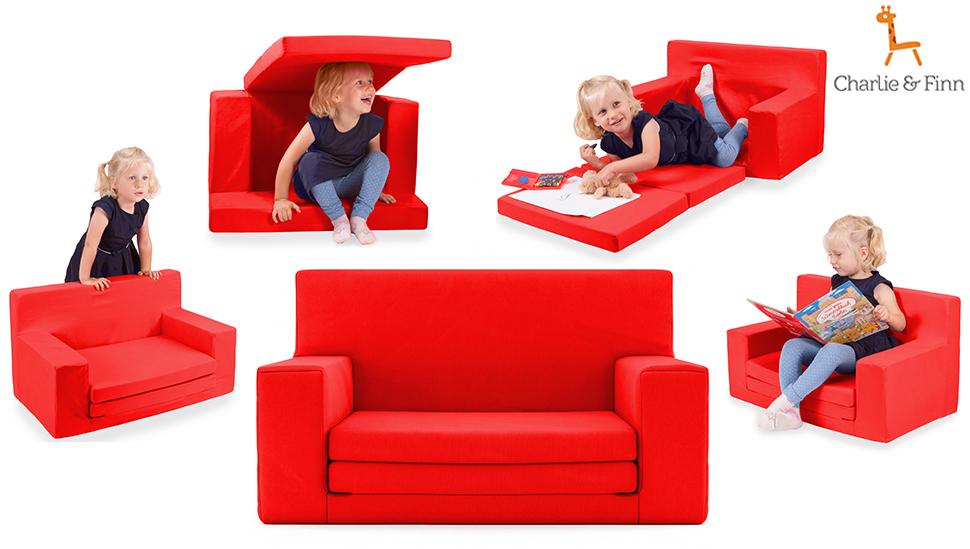 2 in 1 kindersofa in neongelb mit waschbarem berzug weich sicher ausklapp spielzeug sessel. Black Bedroom Furniture Sets. Home Design Ideas