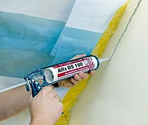 Folienkleber bauelastisch 4x 315 Gramm Kartusche f/ür luftdichte Verklebung von Dampfbremsfolien /& Fensteranschlussb/ändern