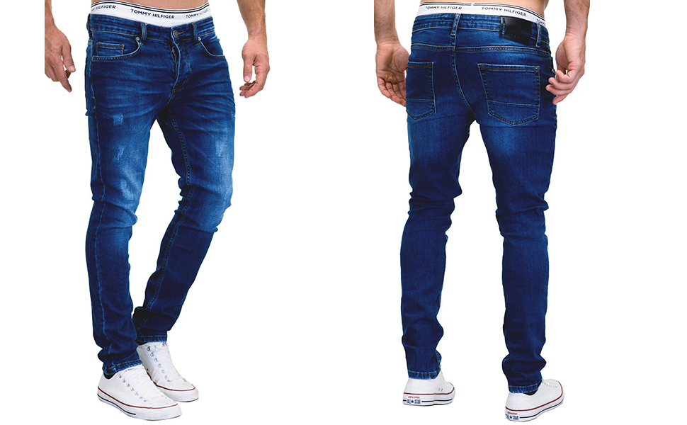 MERISH Jeans Herren Slim Fit Jeanshose Stretch Designer Hose Denim 502