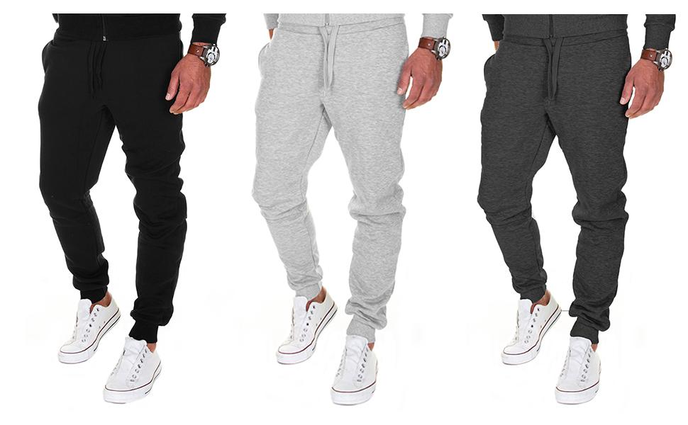 Merish - Pantaloni da jogging da uomo, modello slim fit