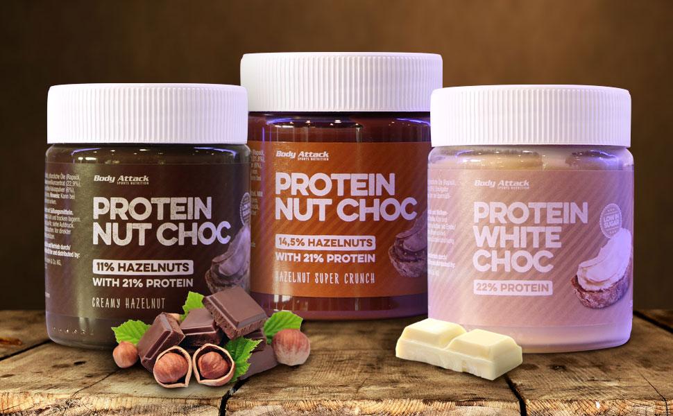 Body Attack Protein Choc 3er Pack Low Carb Aufstrich Mit Whey