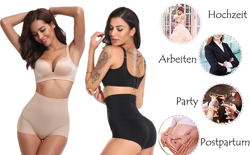 Damen hohe Taille panty Unterwäsche Body Former Hip Bauch Kontrol X Hs