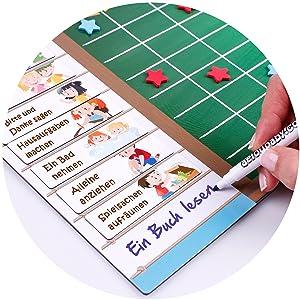Tablica nagradzająca, magnetyczna, zabawka, edukacja, dzieci, pisanie, markery, aeioubaby