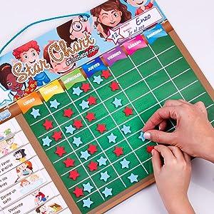 Tablica nagradzająca, magnetyczna, zabawka, edukacyjna, dzieci, gwiazdy, zabawa, rodzina, aeioubaby