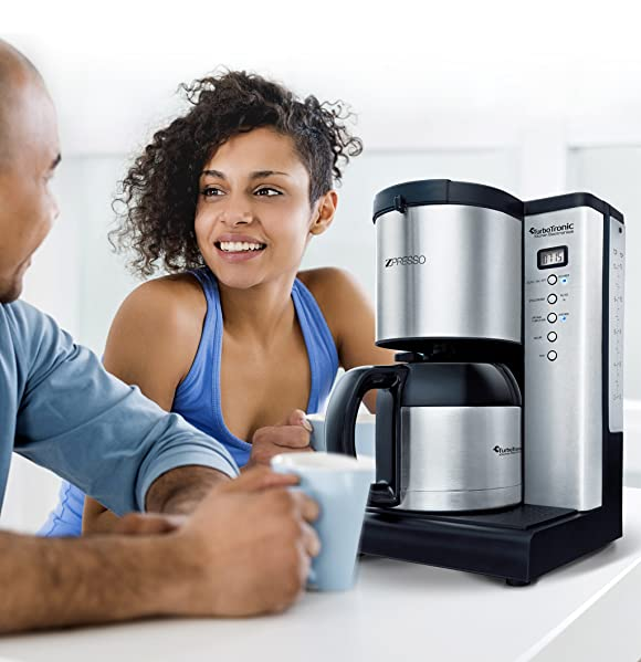 edelstahl kaffeemaschine mit thermoskanne und timer 15 tassen neu ebay. Black Bedroom Furniture Sets. Home Design Ideas