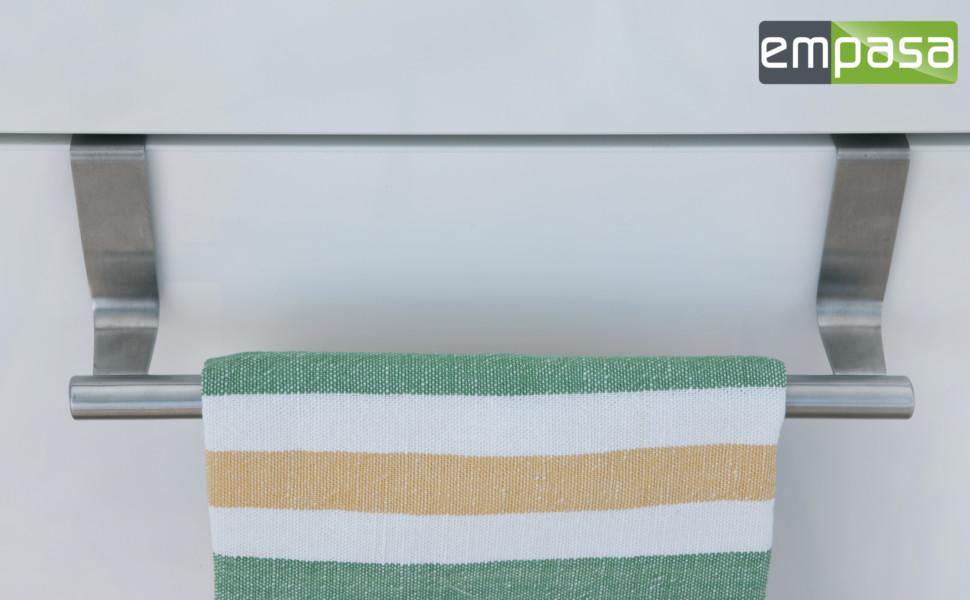 handtuchhalter handtuchstange geschirrtuchhalter zum einh ngen aus edelstahl. Black Bedroom Furniture Sets. Home Design Ideas