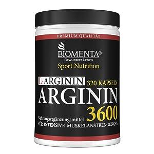 l-arginin kapseln pulver muskelwachstum testosteron potenz blutdruck senken hochdosiert biomenta